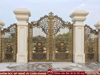 Cổng nhôm đúc Mỹ nghệ Vũ Chấn Khang Puertas principales