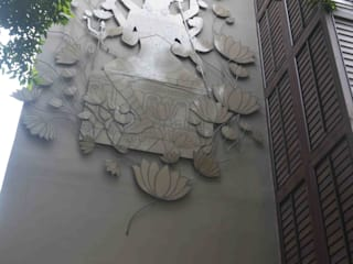 marishi light experiance center kolkata Asian style hospitals by mrittika, the sculpture Asian