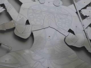 Diseño de ferias de estilo asiático de mrittika, the sculpture Asiático