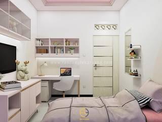 Rancang Reka Ruang Girls Bedroom Bricks Pink