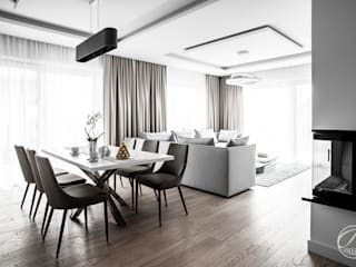 Modern dining room by Progetti Architektura Modern