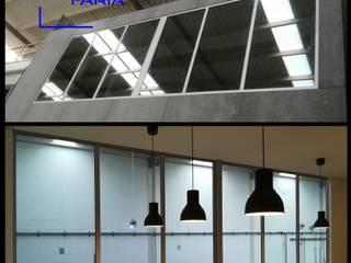 Refeitório de empresa Espaços de restauração modernos por ALUMIFARIA Moderno