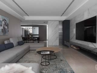 禾廊室內設計 Nowoczesny salon