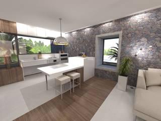 VILLA ACCESIBLE EN LANZAROTE RÖ | ARQUITECTOS Cocinas integrales Piedra Blanco