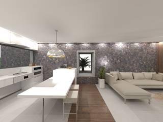 VILLA ACCESIBLE EN LANZAROTE RÖ | ARQUITECTOS Salones de estilo minimalista Piedra Blanco