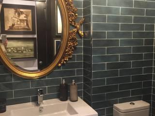 Espejo baño Estudio RYD, S.L. BañosEspejos Madera maciza Ámbar/Dorado