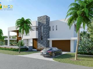JMSD Consultant - 3D Architectural Visualization Studio Casa unifamiliare Vetro Bianco