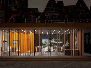 Офис продаж для компании Metrium Рабочий кабинет в стиле модерн от ООО 'Студио-ТА' Модерн