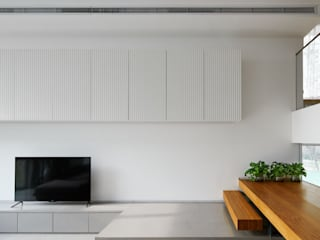 Apartment_T CEN ARCHI モダンデザインの リビング