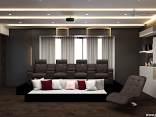 JAIHO INTERIORS - RESIDENCE & COMMERCIAL INTERIORS Electronics Plywood White