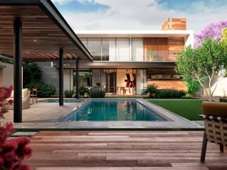 Residencias TLXC Valderrábano Arquitectos Casas modernas