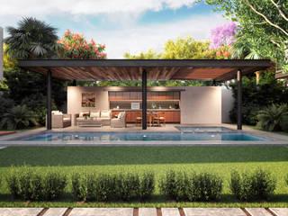 Residencias TLXC Valderrábano Arquitectos Albercas modernas