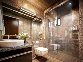Premdas Krishna BathroomBathtubs & showers Wood Wood effect