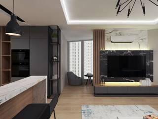 Квартира для молодой семьи PRIVATE DESIGN Living room