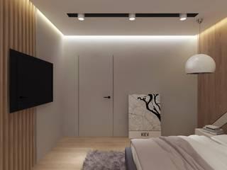 Квартира для молодой семьи PRIVATE DESIGN Minimalist bedroom