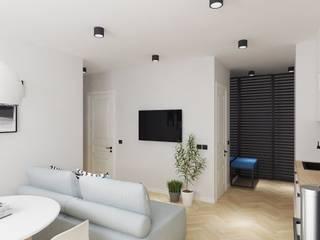 Scandinavian minimalism PRIVATE DESIGN Living room