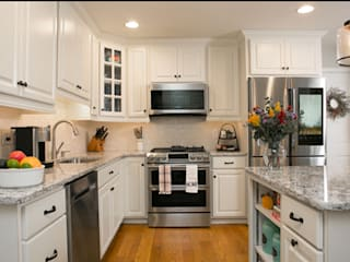 Kitchen Magic 廚房收納櫃與書櫃 花崗岩 White