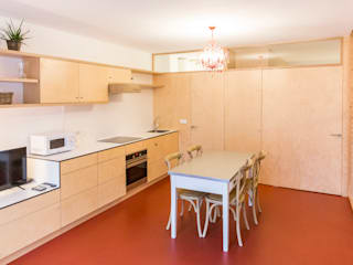 IMAGINEAN Кухня в стиле модерн Красный