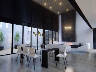 Diseño de interiores casa esquinera Comedores de estilo minimalista de 4.19Arquitectos Minimalista Metal