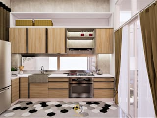 DRE House – Desain Interior Bapak Andre – Gedong Kuning, Yogyakarta:industri  oleh Rancang Reka Ruang, Industrial