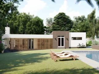 SuP Architecture 現代房屋設計點子、靈感 & 圖片 磚塊 Beige