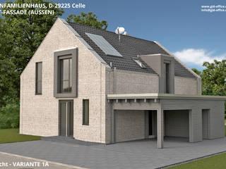 Einfamilienhaus mit Carport, Neubau, Architektur und Innenarchitektur - Celle, OT. Wietzenbruch von GID│GOLDMANN-INTERIOR-DESIGN - Innenarchitekt in Sehnde Modern