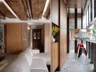 退休農夫的家 大湖森林室內設計 地板 塑木複合材料 Orange