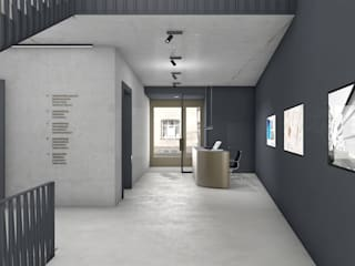 FISCHER & PARTNER lichtdesign. planung. realisierung Modern Corridor, Hallway and Staircase