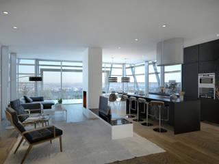 FISCHER & PARTNER lichtdesign. planung. realisierung Salas de jantar modernas