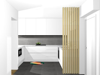Desenho Branco Eclectic style kitchen White