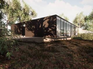 TRAMA ARQUITECTOS Rumah kayu Kayu Wood effect