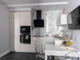 Дизайн-проект двухкомнатной квартиры площадью 52,8 кв.м Кухня в стиле модерн от ARTWAY центр профессиональных дизайнеров и строителей Модерн