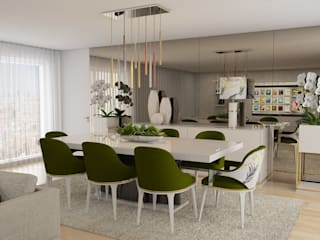 Modern dining room by Casactiva Interiores Modern