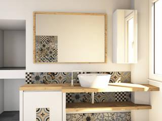 Bagno su misura Bagno minimalista di Falegnamerie Design Minimalista