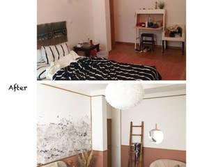 Aménagement et décor de 2 chambres justinside ChambreLits & têtes de lit Bois Rouge