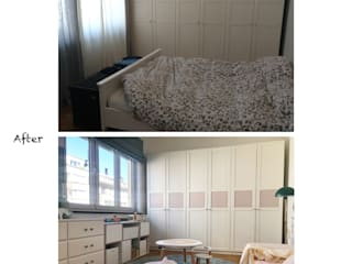 Aménagement et décor de 2 chambres justinside Chambre d'enfantsPenderies et commodes Bois composite Blanc