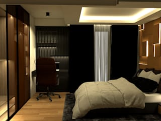 MIDNIGHT Modern style bedroom by Studio Lona Modern