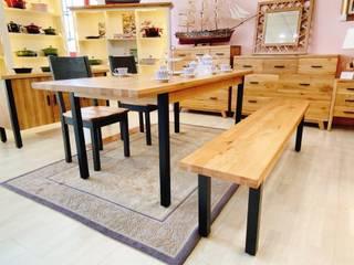 鄉村風 多瑙河系列 英國風情家具 餐廳桌子 實木 Wood effect