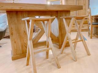 鄉村風 多瑙河系列 英國風情家具 餐廳椅子與長凳 實木 Wood effect