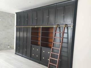 訂製大英書櫃 英國風情家具 書房/辦公室食具櫃 實木 Wood effect