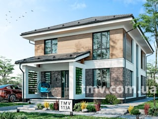 Стильный двухэтажный коттедж без гаража TMV 113A от TMV Architecture company