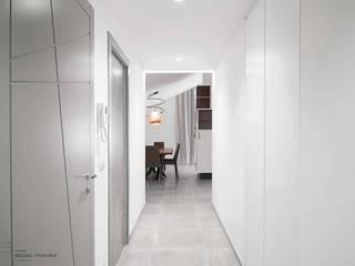Red Roof primavera architettura Ingresso, Corridoio & Scale in stile moderno