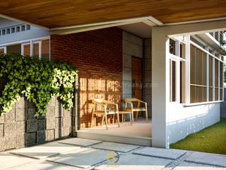 FIN House - Mrs. Maya - Sleman, D. I. Yogyakarta Balkon, Beranda & Teras Tropis Oleh Rancang Reka Ruang Tropis