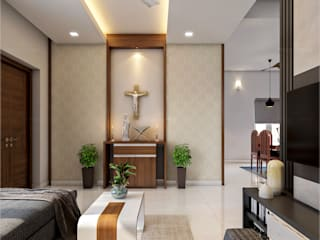 Monnaie Interiors Pvt Ltd Living roomAccessories & decoration Wood Wood effect
