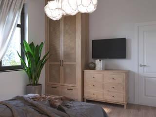 Студия дизайна 'INTSTYLE' ห้องนอนขนาดเล็ก ไม้ White