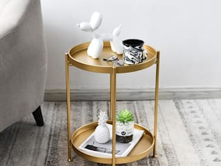 Our Side Tables Simply Side Tables Living roomSide tables & trays Metal Amber/Gold