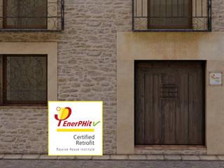 Vivienda unifamiliar TamaHaus (Segovia) - Passivhaus EnerPHit GA Arkitectura │arquitectura & passivhaus │ Casas de estilo rústico