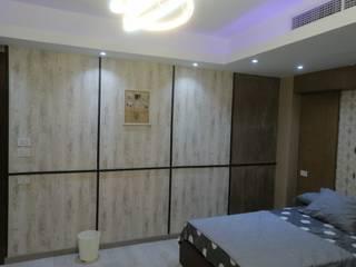 كاسل للإستشارات الهندسية وأعمال الديكور والتشطيبات العامة Paredes y pisos de estilo moderno Madera Gris