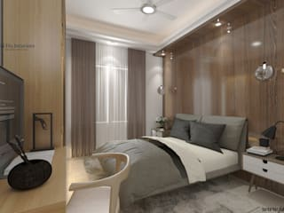 JAIHO INTERIORS - RESIDENCE & COMMERCIAL INTERIORS Small bedroom Plywood White