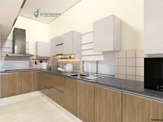 JAIHO INTERIORS - RESIDENCE & COMMERCIAL INTERIORS Modern kitchen Plywood White